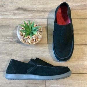 Crocs Suede Santa Cruz Loafers Black